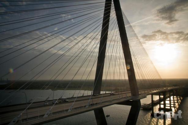 Ravenel Bridge on Race Day