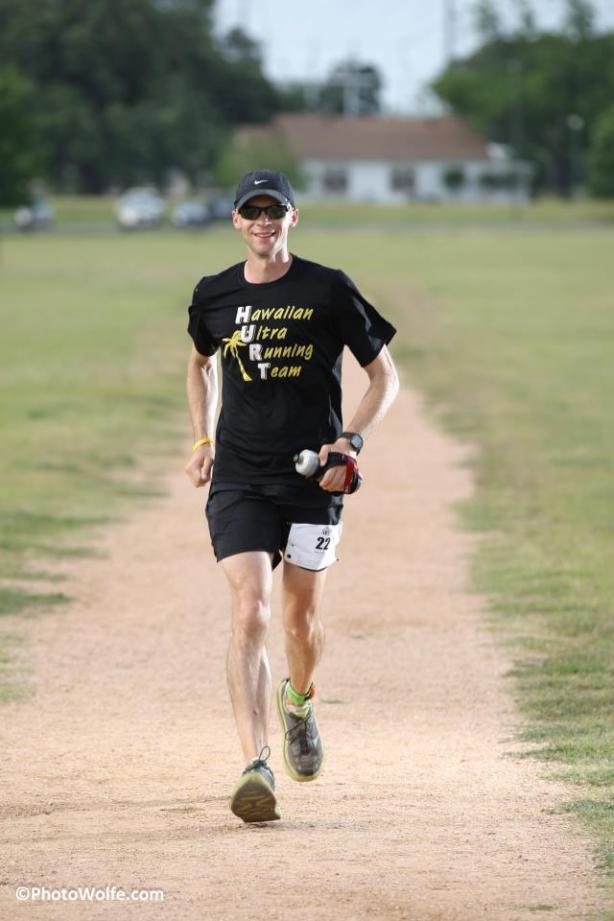 Winner running his 105th mile