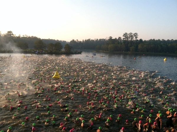 Ironman Texas Swim Start